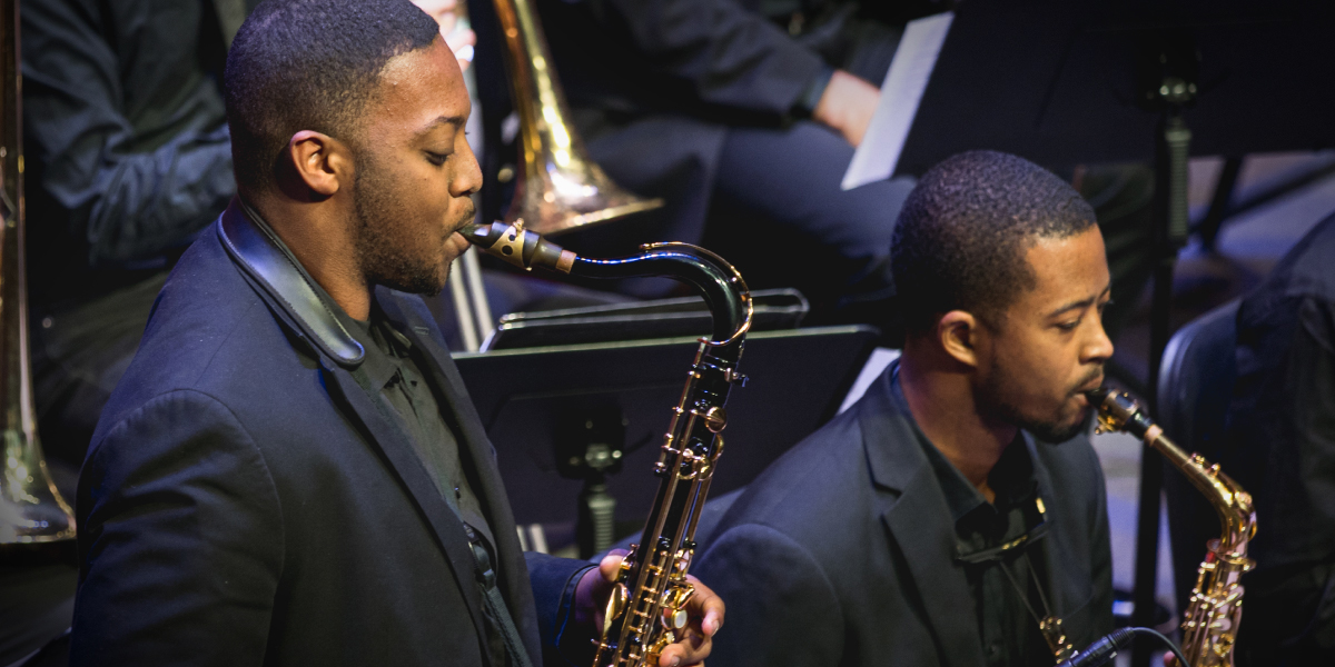 CCM Jazz Orchestra performs on stage