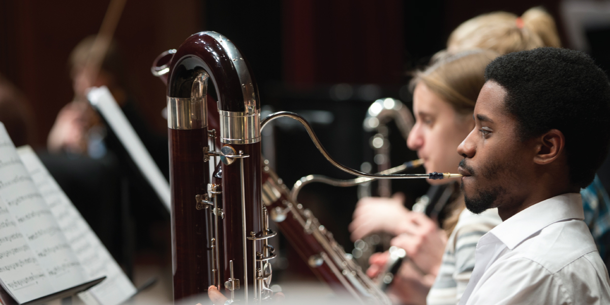 Wind Symphony performed on stage