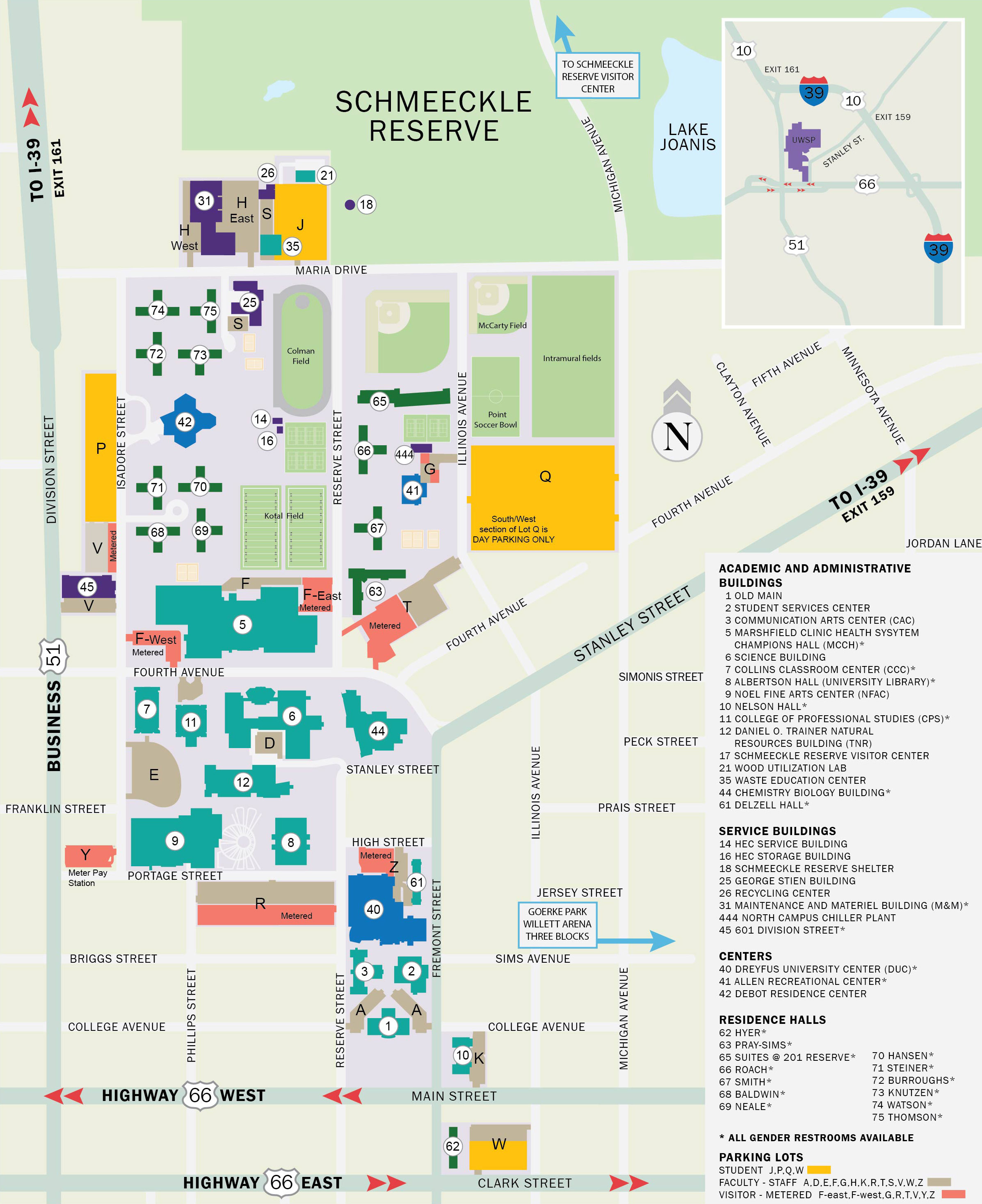 University Of Wisconsin Campus Map University of Wisconsin Stevens Point | Ticketing   UWSP Campus